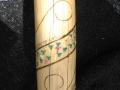 Carved Talking Stick w/ chakras and kundalini snake