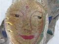 feminine Buddha face